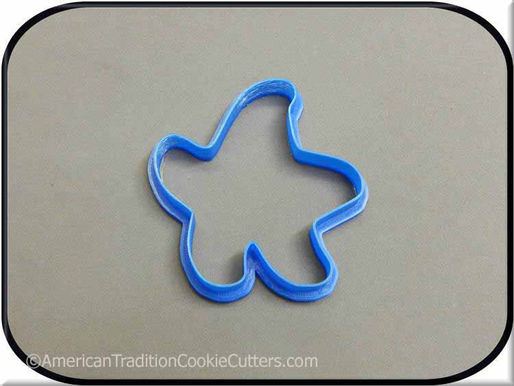 "3.5"" Starfish 3D Printed Plastic Cookie Cutter"