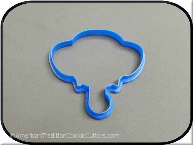 "4"" Elephant 3D Printed Plastic Cookie Cutter-americantraditioncookiecutters"