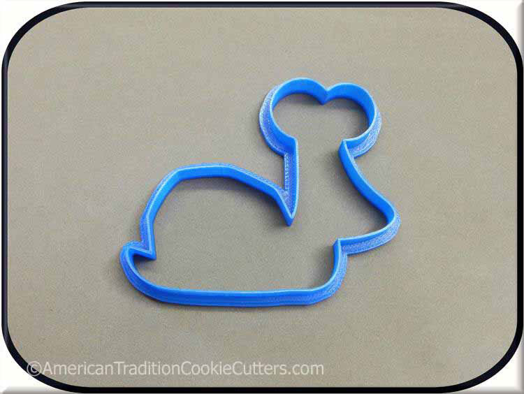 "4"" Snail 3D Printed Plastic Cookie Cutter-americantraditioncookiecutters"