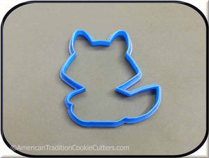 "4"" Raccoon Woodland Creature 3D Printed Plastic Cookie Cutter-americantraditioncookiecutters"