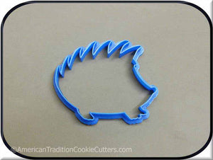 "4"" Hedgehog 3D Printed Plastic Cookie Cutter-americantraditioncookiecutters"