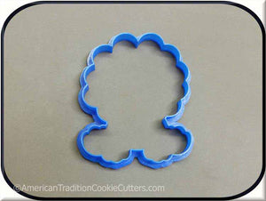 "4"" Baby Lion Cub 3D Printed Plastic Cookie Cutter"