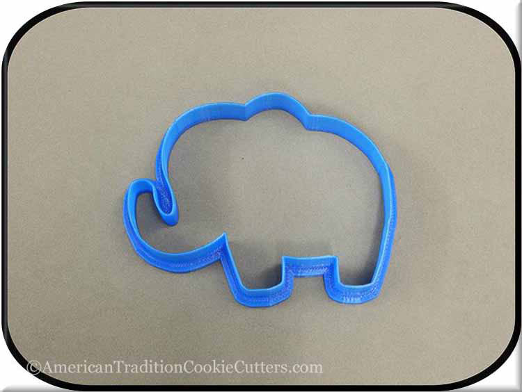 "4.25"" Elephant 3D Printed Plastic Cookie Cutter-americantraditioncookiecutters"