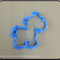 "4.75"" Cow 3D Printed Plastic Cookie Cutter-americantraditioncookiecutters"