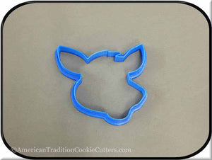 "4.25"" Donkey Head 3D Printed Plastic Cookie Cutter-americantraditioncookiecutters"