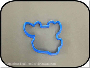 "4"" Giraffe Head 3D Printed Plastic Cookie Cutter-americantraditioncookiecutters"