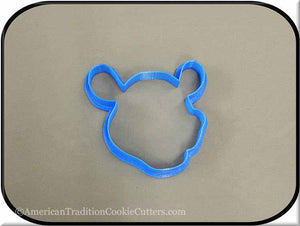 "3.5"" Hippopotamus Head 3D Printed Plastic Cookie Cutter - American Tradition Cookie Cutters"