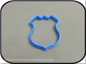"3.5"" Police Badge 3D Printed Plastic Cookie Cutter - American Tradition Cookie Cutters"