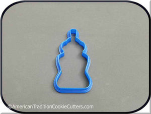 "3.5"" Baby Bottle 3D Printed Plastic Cookie Cutter - American Tradition Cookie Cutters"