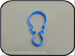 "4"" Baby Rattle 3D Printed Plastic Cookie Cutter"
