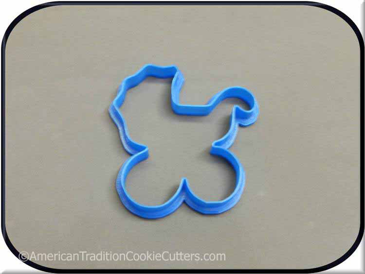 "4"" Baby Carriage 3D Printed Plastic Cookie Cutter - American Tradition Cookie Cutters"