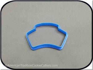 "3.5"" Nurse Cap 3D Printed Plastic Cookie Cutter - American Tradition Cookie Cutters"