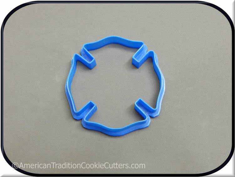 "3.5"" Fireman Badge 3D Printed Plastic Cookie Cutter - American Tradition Cookie Cutters"