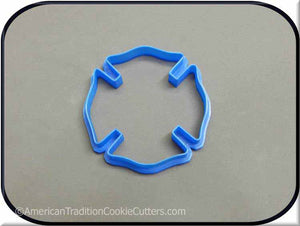 "3.5"" Fireman Badge 3D Printed Plastic Cookie Cutter"
