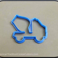 "3.75"" Cement Mixer Truck 3D Printed Plastic Cookie Cutter - American Tradition Cookie Cutters"