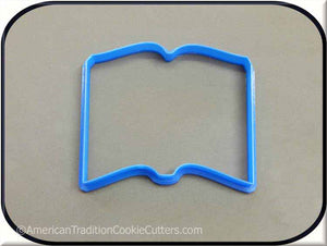 "5"" Open Book 3D Printed Plastic Cookie Cutter-americantraditioncookiecutters"