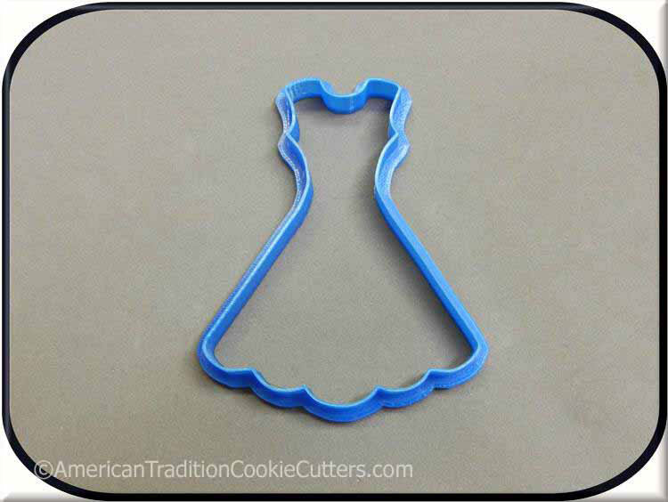 "4"" Dress 3D Printed Plastic Cookie Cutter"
