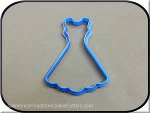 "4"" Dress 3D Printed Plastic Cookie Cutter-americantraditioncookiecutters"