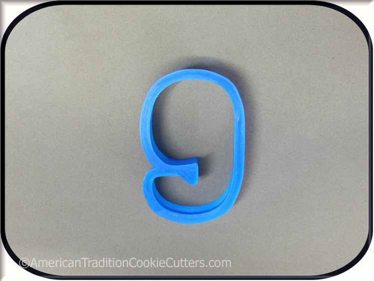 "3"" Number Nine 3D Printed Plastic Cookie Cutter - American Tradition Cookie Cutters"