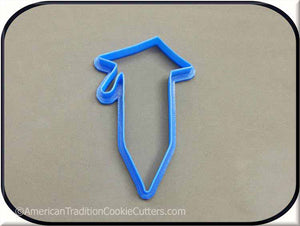 "4"" Pencil with a Graduation Cap 3D Printed Plastic Cookie Cutter-americantraditioncookiecutters"