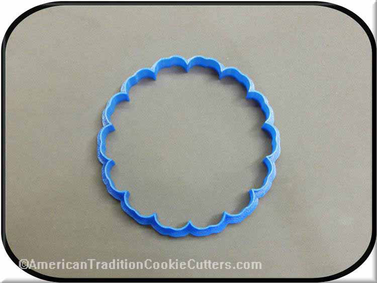 "4"" Flower Plaque 3D Printed Plastic Cookie Cutter-americantraditioncookiecutters"