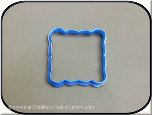 "3.75"" Plaque 3D Printed Plastic Cookie Cutter - American Tradition Cookie Cutters"