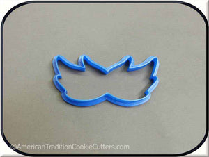 "4"" Halloween Mardi Gras Mask 3D Printed Plastic Cookie Cutter-americantraditioncookiecutters"