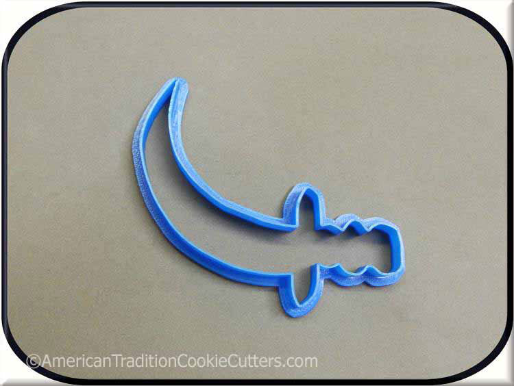 "4.5"" Pirate Sword 3D Printed Plastic Cookie Cutter-americantraditioncookiecutters"