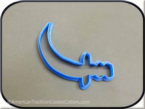 "4.5"" Pirate Sword 3D Printed Plastic Cookie Cutter"
