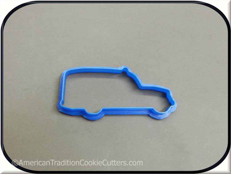 "4"" Old Time Ambulance 3D Printed Plastic Cookie Cutter"