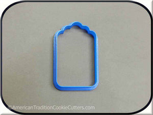 "3.5"" Price Tag 3D Printed Plastic Cookie Cutter - American Tradition Cookie Cutters"