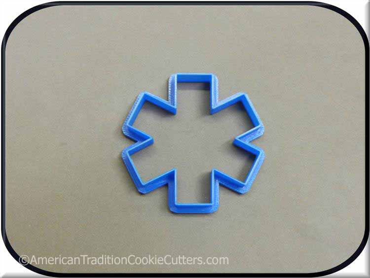 "3"" Paramedic Star 3D Printed Plastic Cookie Cutter"