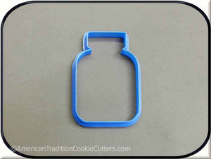 "3.5"" Pill Bottle Medical 3D Printed Plastic Cookie Cutter"