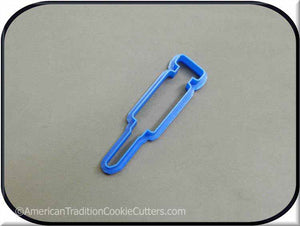 "4"" Syringe Medical 3D Printed Plastic Cookie Cutter-americantraditioncookiecutters"