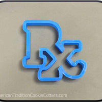 "4.75"" RX Medical Prescription Symbol 3D Printed Plastic Cookie Cutter-americantraditioncookiecutters"