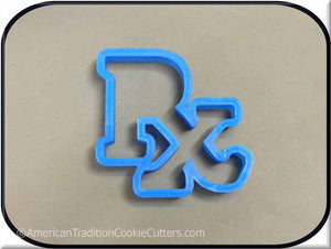 "4.75"" RX Medical Prescription Symbol 3D Printed Plastic Cookie Cutter"