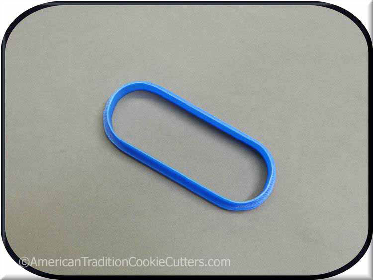 "4"" Pill 3D Printed Plastic Cookie Cutter-americantraditioncookiecutters"