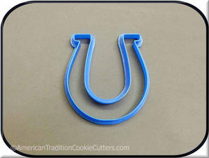 "3.5"" Horseshoe 3D Printed Plastic Cookie Cutter - American Tradition Cookie Cutters"