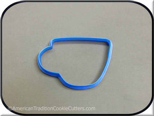 "4"" Coffee Cup 3D Printed Plastic Cookie Cutter - American Tradition Cookie Cutters"