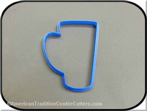 "4"" Tall Mug 3D Printed Plastic Cookie Cutter"