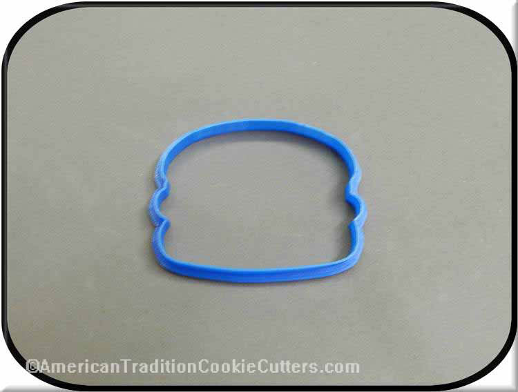 "3.75"" Hamburger on Bun 3D Printed Plastic Cookie Cutter - American Tradition Cookie Cutters"