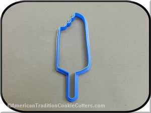 "5"" Popsicle with Bite 3D Printed Plastic Cookie Cutter"