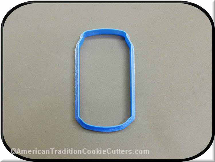 "4"" Soda Pop Can 3D Printed Plastic Cookie Cutter"