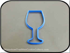 "4"" Wine Glass 3D Printed Plastic Cookie Cutter-americantraditioncookiecutters"