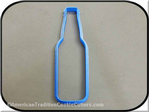 "5.5"" Beer Bottle 3D Printed Plastic Cookie Cutter-americantraditioncookiecutters"