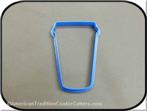 "4"" Paper Coffee Cup Travel Mug 3D Printed Plastic Cookie Cutter-americantraditioncookiecutters"