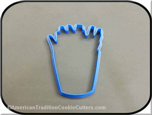 "4"" French Fries 3D Printed Plastic Cookie Cutter-americantraditioncookiecutters"
