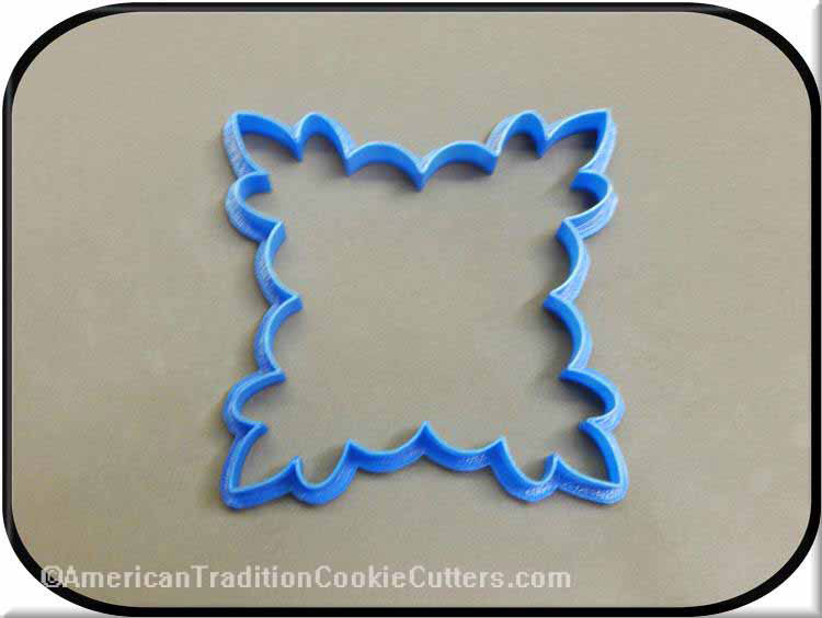 "5.5"" Plaque 3D Printed Plastic Cookie Cutter"