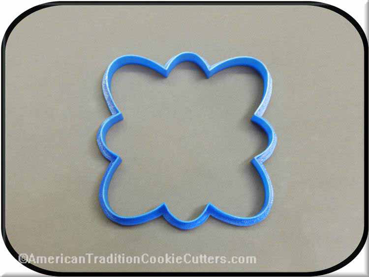 "5"" Plaque 3D Printed Plastic Cookie Cutter-americantraditioncookiecutters"