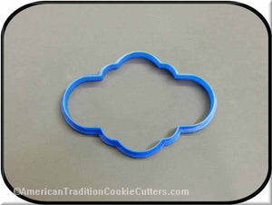 "4.5"" Plaque 3D Printed Plastic Cookie Cutter-americantraditioncookiecutters"
